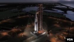 El lanzamiento de la nave espacial Orion debe hacerse desde Cavo Cañaveral en la Florida.