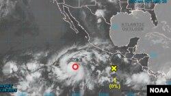 Primera depresión tropical en el Pacífico, frente a las costas de México.