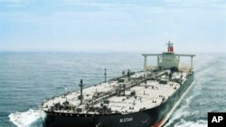 This undated handout picture released by Japanese shipping company Mitsui OSK Line on 29 Jul 2010 shows the oil tanker 'M.Star'.