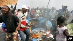Une manifestation à Kinshasa, 25 juillet 2006.