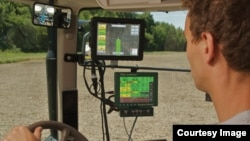 A farmer uses Monsanto's FieldScripts program to plant his field. (Photo courtesy of Monsanto)