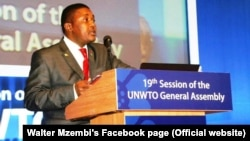 FILE: Zimbabwe Tourism Minister Walter Mzembi has been informed about problems faced by the tourism industry.