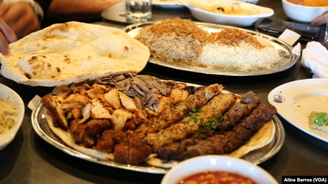 Traditional Iraqi food part of the menu at Ishtar restaurant in Sterling Heights, Michigan, July 31, 2017.