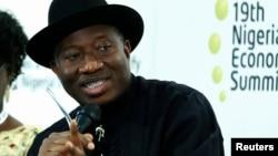 Shugaba Goodluck Jonathan ya halarci Taron Koli Na Tattalin Arzikin Najeriya (NESG) a Abuja ranar 3 ga watan Satumba.