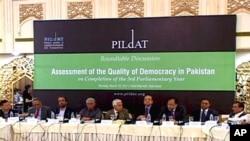 پاکستان میں معیار جمہوریت کی شرح 45 فیصد: رپورٹ
