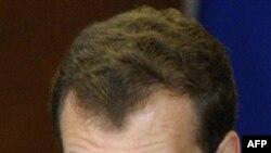 Президент России Дмитрий Медведев. Москва. 13 октября 2010 года