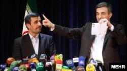 همراهی احمدی نژاد با اسفندیار رحیم مشایی در وزارت کشور
