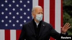 ဒီမိုကရက္တစ္ပါတီ သမၼတေလာင္း Joe Biden. (ေအာက္တုိဘာ ၂၊ ၂၀၂၀)