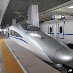 北京南站的京滬高鐵和諧號