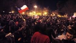 پليس شيلی با گاز اشک آور به معترضان حمله کرد