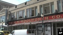 The Woolworth department store in Greensboro, North Carolina that was the site of the famous sit-ins on 1 Feb 1960