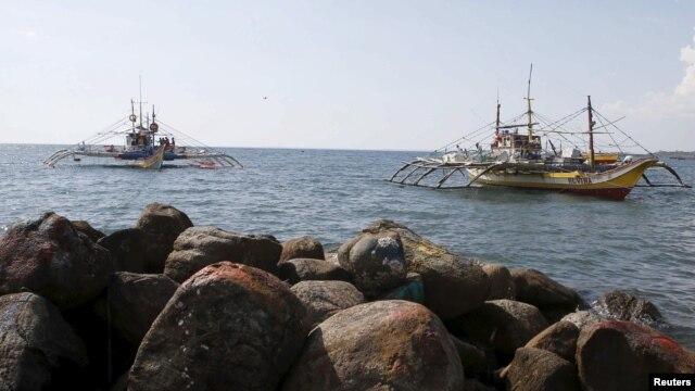 Tàu đánh cá Philippines đã bị lực lượng tuần tra biển của Trung Quốc phun vòi rồng hồi tháng Tư vừa qua.