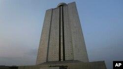 북한 평양의 양각도국제호텔 (자료사진)
