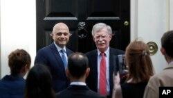 13 Ağustos 2019, Londra, İngiltere - ABD Ulusal Güvenlik Danışmanı John Bolton ile İngiltere İçişleri Bakanı Sacid Cavid'in görüşmesi