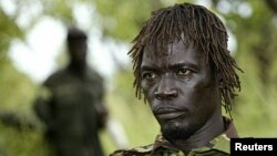 Uganda's Lord's Resistance Army (LRA) commander Caesar Acellam in Owiny Kibul, South Sudan,September 20, 2006 file photo.