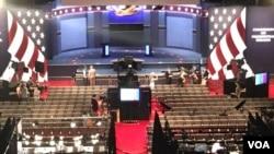 Las Veqasda Nevada universitetində prezidentliyə namizədlər-Hillari Klinton və Donald Tramp arasında üçüncü debata son hazırlıqlar gedir