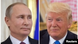 Russian President Vladimir Putin and U.S. President Donald Trump will meet in Hamburg, Germany, on July 7, 2017, on the sidelines of a Group of 20 summit of leading rich and developing nations.