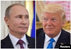 도널드 트럼프(오른쪽) 미국 대통령과 블라디미르 푸틴 러시아 대통령.