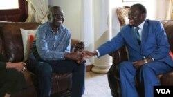 UMnu. Morgan Tsvangirai loMongameli Emmerson Mnangagwa.