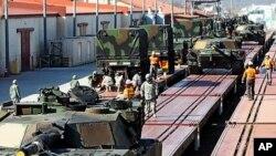지난해 3월 경북 칠곡 군 캠프 캐롤 미군기지의 키 리졸브 훈련