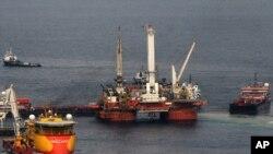 حفاری نفت در سواحل شرقی آمریکا مربوط به سال 2010 در ایالت لوئیزیانا