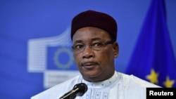 Le président du Niger et président en exercice de la force régionale antijihadiste G5-Sahel, Mahamadou Issoufou, à Bruxelles, 23 février 2018.
