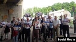 تجمع مقابل زندان اوین در اعتراض به بازداشت نسرین ستوده