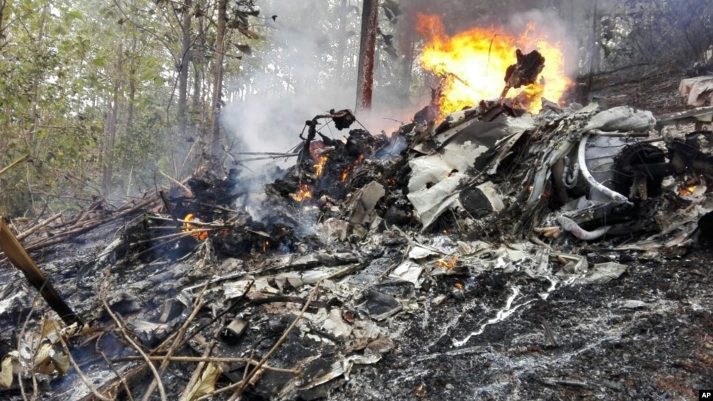 哥斯达黎加民用航空新闻办公室公布的飞机失事地点照片。(2017年12月31日)