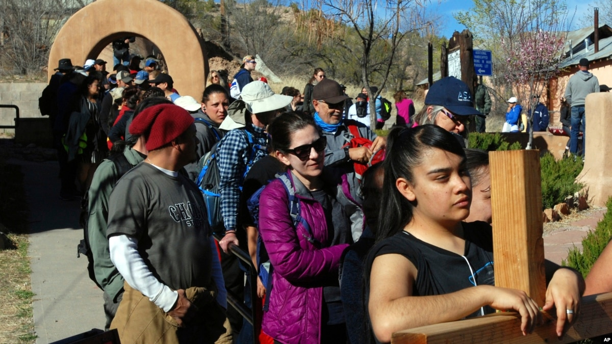 Centuries-Old Easter Tradition Continues at Adobe Church in New Mexico