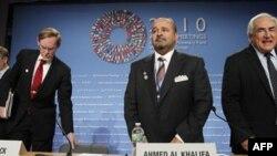 Встреча руководителей МВФ и Международного банка в Вашингтоне, октябрь 2010