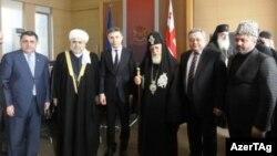 Qafqaz Müsəlmanları idarəsinin sədri şeyxülislam Allahşükür Paşazadınin Gürcüstan baş naziri Bedzina İvanişvili ilə görüşü