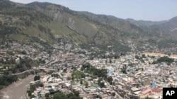 پاکستان کے زیر انتظام کشمیر کے دارالحکومت مظفرآباد کا ایک منظر