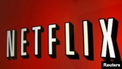 FILE - The Netflix logo.