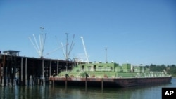 In the event of a major US earthquake, gasoline resupply may be dependent on petroleum barges like this one.