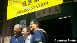 占領中環運動三位發起人在全民投票最後一天(佔中秘書處圖片 )