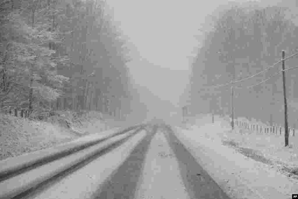 В Западную Вирджинию ураган «Сэнди» пришел со снегом