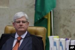 Brazil's Attorney General Rodrigo Janot attends a Supreme Court session in Brasilia, Brazil, June 28, 2017.