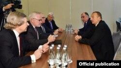 İlham Əliyev ATƏT-in Minsk Qrupunun həmsədrləri ilə görüşüb