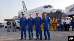 L'équipage du dernier vol de la navette Atlantis