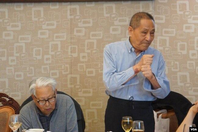 鮑彤與原中央黨校理論研究室副主任杜光(高瑜提供)