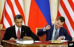 美俄兩國首腦在較早前簽署《削減戰略武器條約》