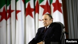 Presiden Aljazair Abdelaziz Bouteflika di ibukota Aljir.