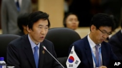 FILE - South Korea's Foreign Minister Yun Byung-se.