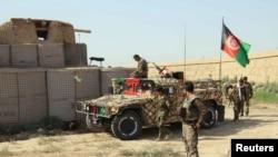 L'armée nationale afghane dans la ville du nord de Kunduz, Afghanistan, le 27 septembre 2016.