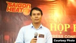 Ông Connor Nguyen, người sáng lập Saigon Heat, đội bóng rổ chuyên nghiệp đầu tiên của Việt Nam.