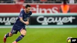 Messi a lokacin wasansu da Reims