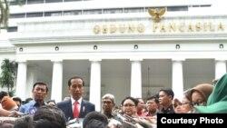 Presiden Joko Widodo di Kompleks Kementerian Luar Negeri Jalan Pejambon Jakarta, Senin 12 Februari 2018. (Foto: Biro Pers Istana)