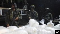 Cảnh sát Colombia tịch thu 6 tấn cocain trị giá 30 triệu đôla, ngày 13/10/2011