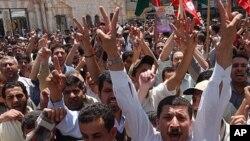 تظاهرات مشابه تونس، مصر و یمن در عمان پایتخت اردن