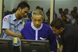 Kaing Guek Eav, alias Duch, before the war crimes tribunal, Phnom Penh, Cambodia, March 19, 2012.